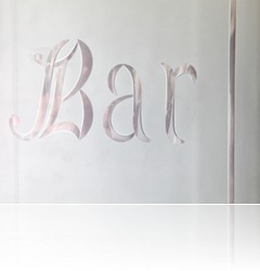 Bar room door glass iStock_000015977274XSmall
