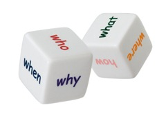 Dice with interogatives Questions iStock_000017184468XSmall